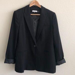 EUC Calvin Klein Black One Button Blazer SZ16